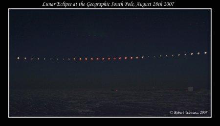 Лунное затмение с южного полюса